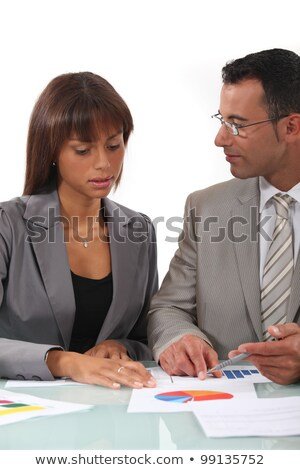 Two businesspeople going over results Stock photo © photography33