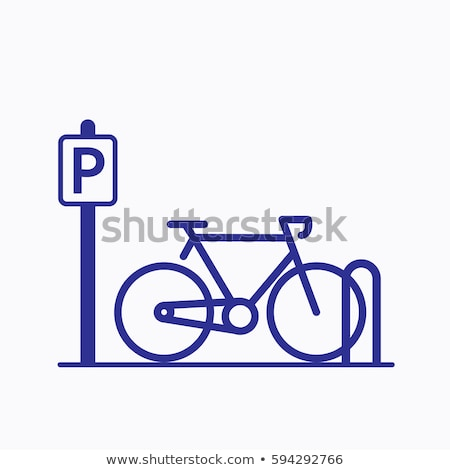 fiets · parkeren · stad · abstract · zomer · teken - stockfoto © shutswis
