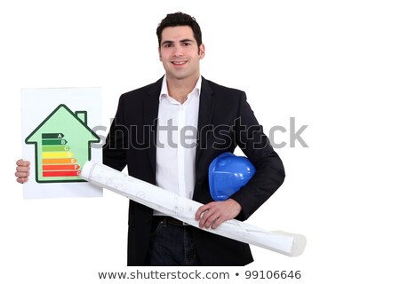Man with flat energy cartel Stock photo © photography33
