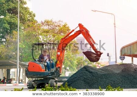 掘削機 · マシン · 作業 · 水 · ツリー - ストックフォト © rufous
