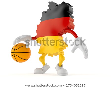 3D basket ball with German flag on white. Stock photo © Istanbul2009