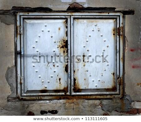 melancólico · sucia · Rusty · pared · ventana - foto stock © devon