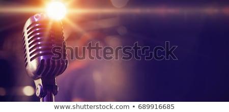 3d vintage microphone Stock photo © tiero