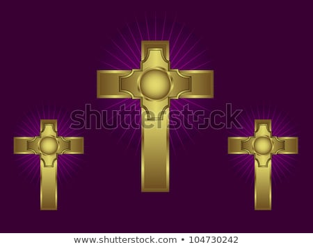 Gold Cross Purple Stock photo © rghenry