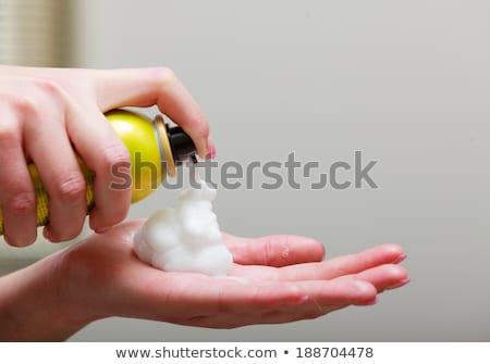 Spray de cabelo salão beleza serviço Foto stock © gemenacom