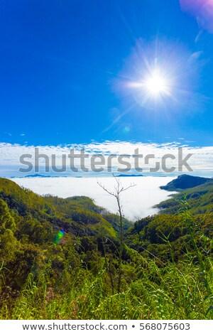 Güneş üzerinde dağlar manzaralı muhteşem manzara Stok fotoğraf © belahoche