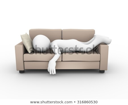3d man resting on sofa concept stock photo © nithin_abraham