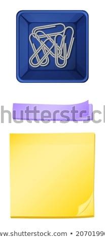 Pojemnik nie ilustracja biuro papieru szkoły Zdjęcia stock © bluering
