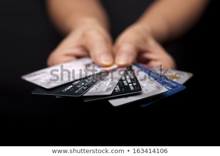 Fan kredi kartları kredi kartı beyaz arka plan yakın çekim borç Stok fotoğraf © IS2