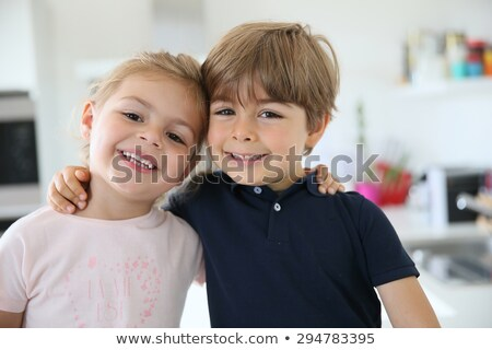 Portrait of brother and sister Stock photo © IS2