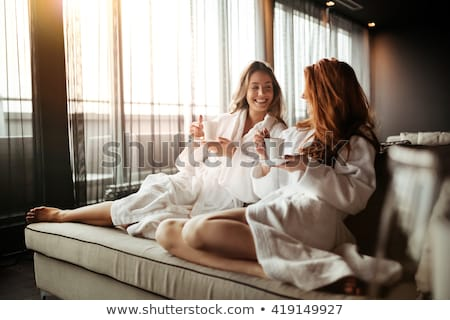 Gün sağlıklı yaşam spa kadın çıplak barış Stok fotoğraf © IS2