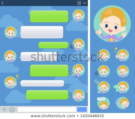 blond hair boy sns window Stock photo © toyotoyo