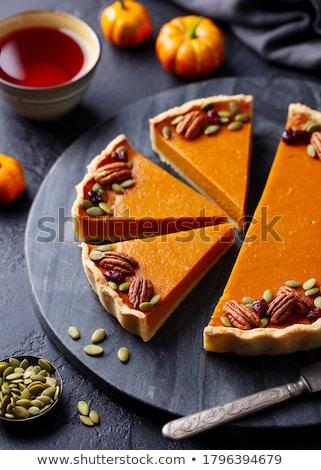 Calabaza tarta oscuro alimentos naranja comer Foto stock © boggy