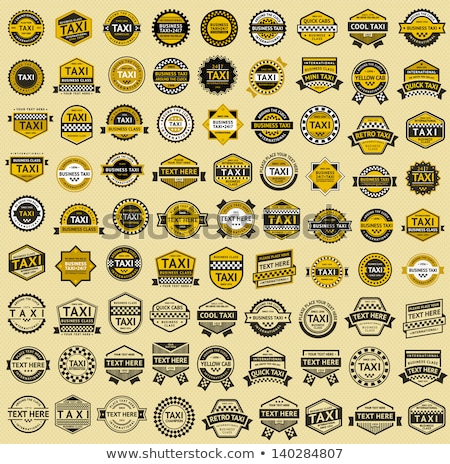 taxi insignia   vintage style stock photo © ecelop