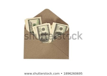 Dólar dotación aislado blanco negocios Foto stock © luckyraccoon