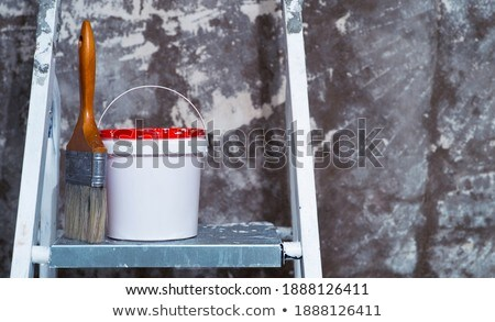 metal stepladder and paint for maintenance work Stock photo © LoopAll