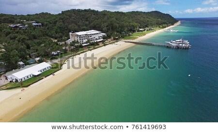 View from Tangalooma Island beach Stock photo © artistrobd
