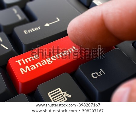 Press Button Time Management on Black Keyboard. Stock photo © tashatuvango