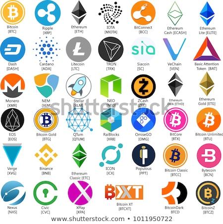 Vektor valuta bitcoin ikon fehér üzlet Stock fotó © blumer1979