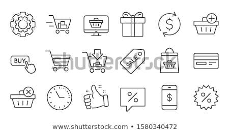 vendite · tag · illustrazione · design · isolato · bianco - foto d'archivio © get4net