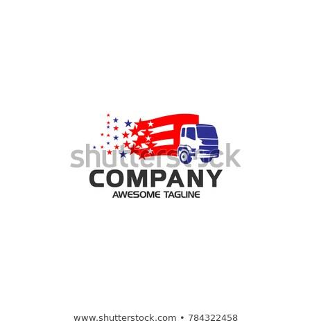 Logistique USA pavillon icône style rétro Photo stock © patrimonio
