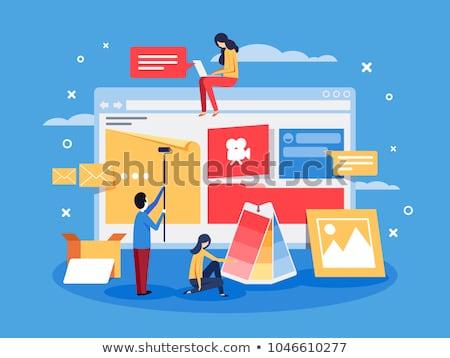 конверт · сообщение · электронная · почта · технологий · набор · веб - Сток-фото © robuart