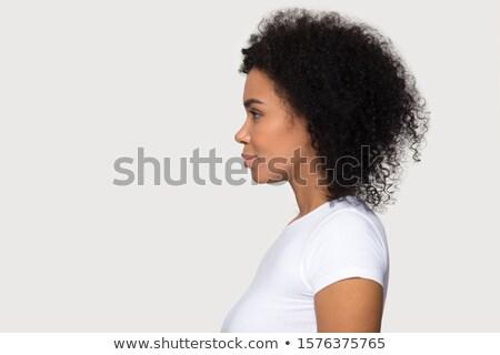 Mulher vestido preto azul Foto stock © acidgrey