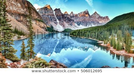 Foto stock: Parque · Canadá · água · cachoeira · montanhas · lago