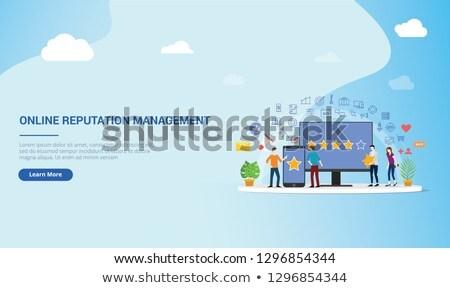 Merk landing pagina bedrijf geloofwaardigheid Stockfoto © RAStudio