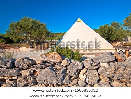Pyramid of Sali on Dugi Otok island stock photo © xbrchx