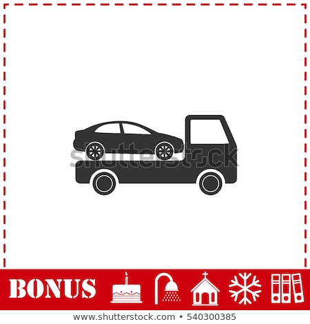 Car Evacuation Icon Vector Outline Illustration Stock photo © pikepicture