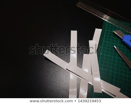Design graphique coupé papier souverain travaux monochrome Photo stock © yupiramos