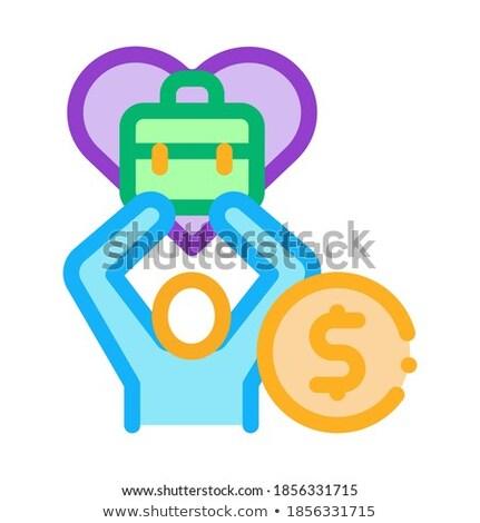 Favoriet geld baan icon vector schets Stockfoto © pikepicture