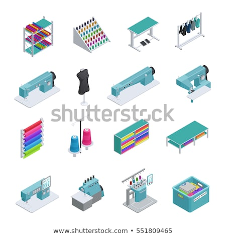 Needle And Thread isometric icon vector illustration Stock photo © pikepicture