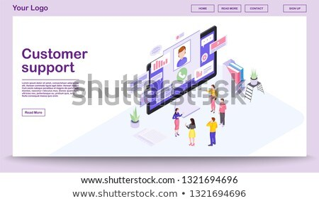 Customer support app interface template. Stock photo © RAStudio