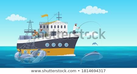 суда лодках рыбалки морем бизнеса Сток-фото © fxegs
