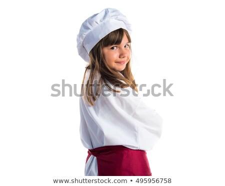 Dziewczynka kucharz żywności kuchnia restauracji nauki Zdjęcia stock © photography33