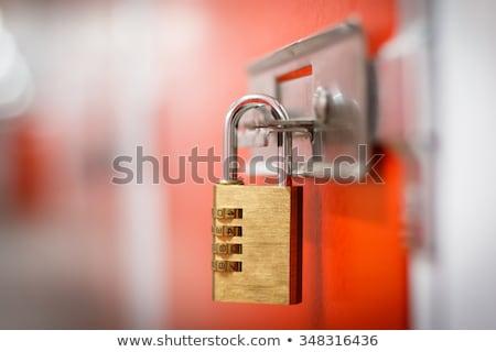 armário · portas · ginásio · quarto · grupo · chave - foto stock © vlad_star