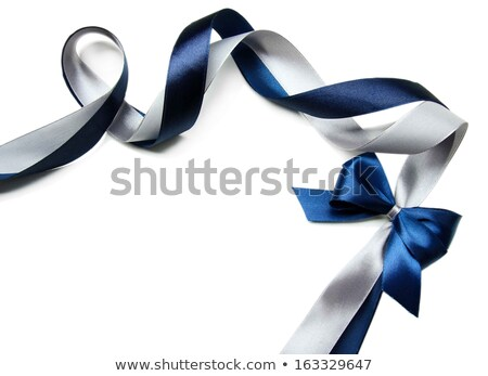 Blue and silver satin textile Stock photo © Nneirda
