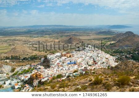 Aerial view from Mojacar Almeria village in Spain Stock photo © lunamarina