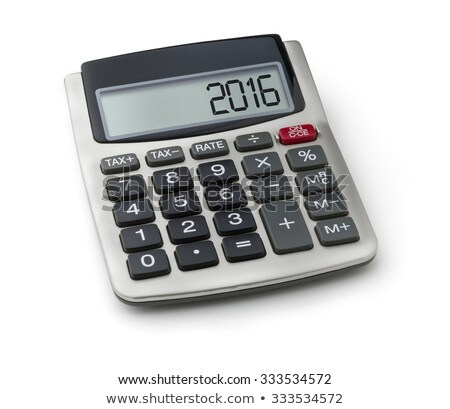 Calculator with the word 2016 on the display Stock photo © Zerbor