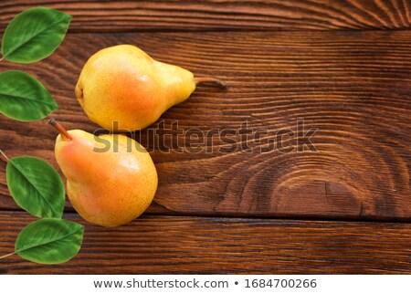 Geel peer houten tafel rustiek retro voedsel Stockfoto © stevanovicigor