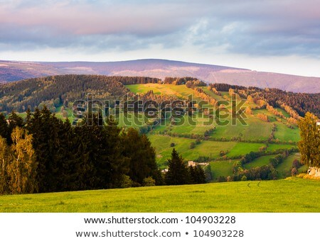 Beautiful autumn landscape of Krkonose mountains Stock photo © CaptureLight