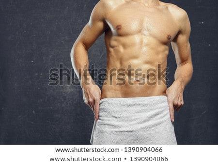 Torso atractivo masculina cuerpo constructor gris Foto stock © master1305