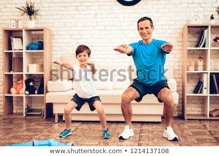 Kid Boy Sit Up Mat Stock photo © lenm