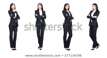 woman businesswoman in business concept isolated on white stock photo © elnur