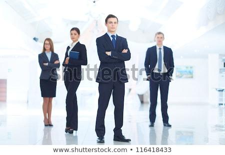 Portré jóképű elegáns felelős üzletember kezek Stock fotó © Traimak