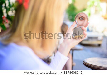 élégante regarder miroir réflexion blond Photo stock © majdansky