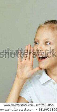 Little girl saying hey Stock photo © colematt