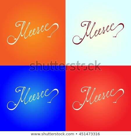 Különböző fülhallgató piros szín fehér zene Stock fotó © magraphics